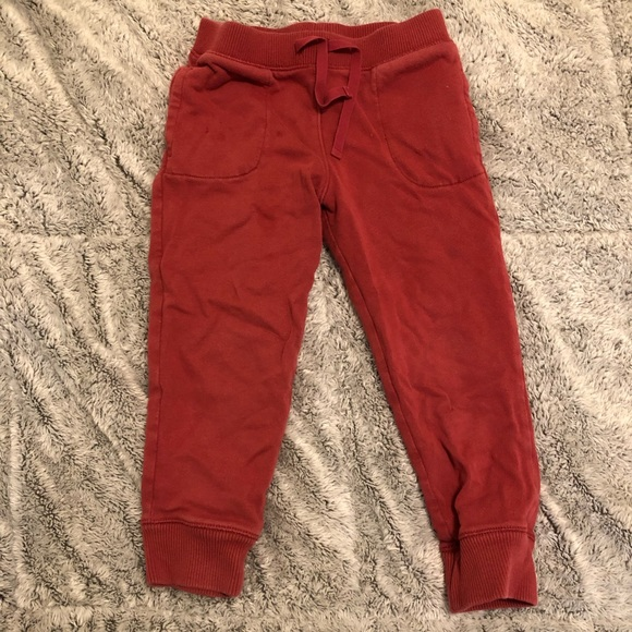 Baby & Toddler Clothing Bottoms Baby Gap Red Joggers With Logo 6-12 Months